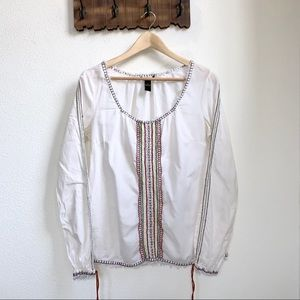 Lucky Brand   Embroidered Long Sleeve Blouse